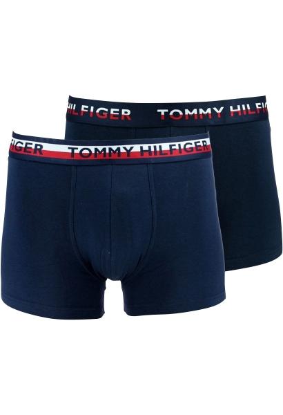 Lot 2 boxers longs bleus coton