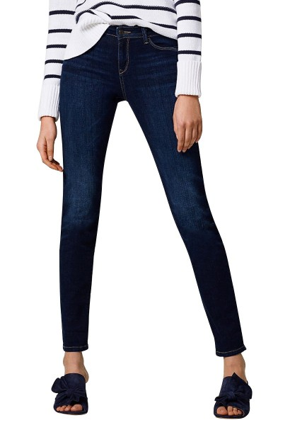 Jean stretch coupe slim taille mi h