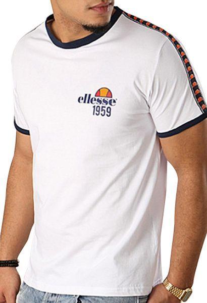 Teeshirt manches courtes EH TMC BANDE Blanc