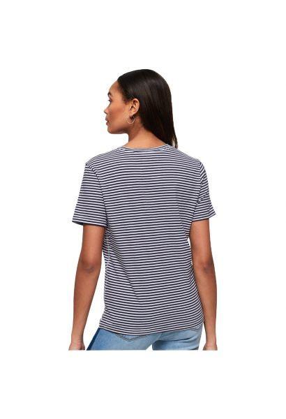 Tee shirt rayé à motif 54 GOODS ROPE ENTRY Bleu marine