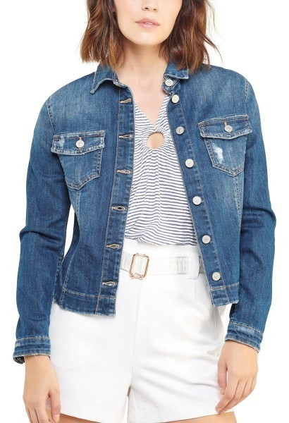 Veste en Jean LILLY Bleu denim