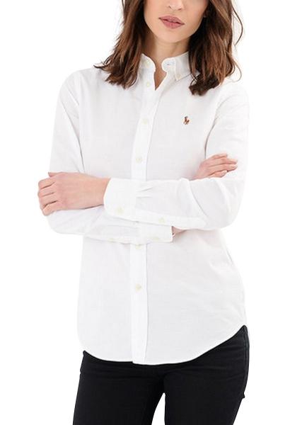 Chemise col américain manches longues KENDAL Blanc
