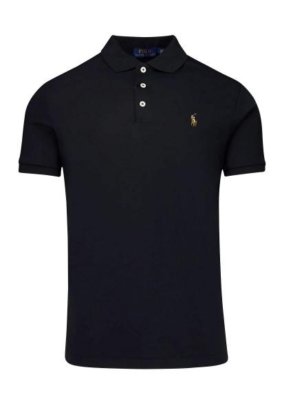 Polo manches courtes logo Noir