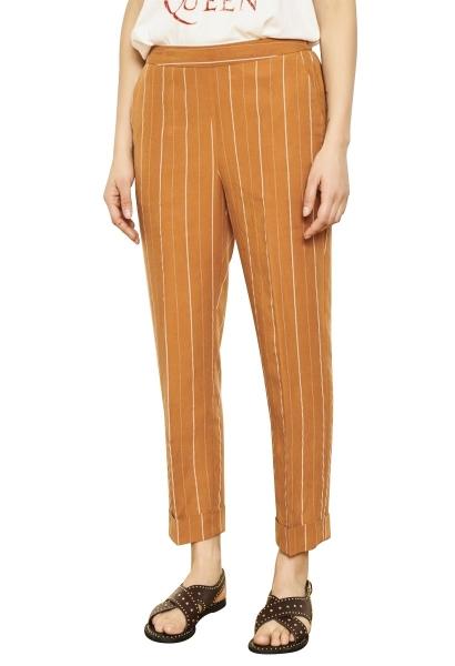 Pantalon fluide fines rayures PIM Rouille