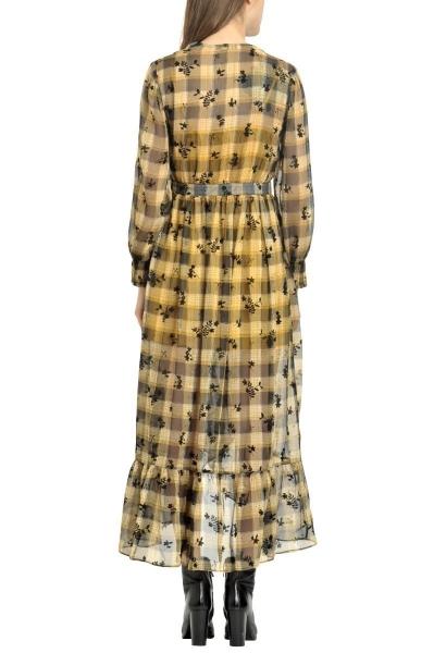 Robe longue col v MISITI Jaune/multicolor