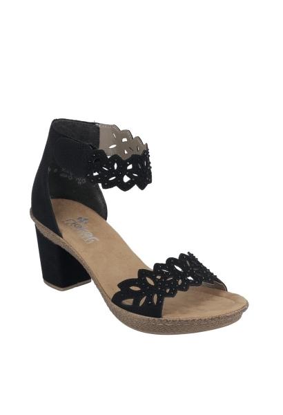 Sandales talons WILDEBUK Noir