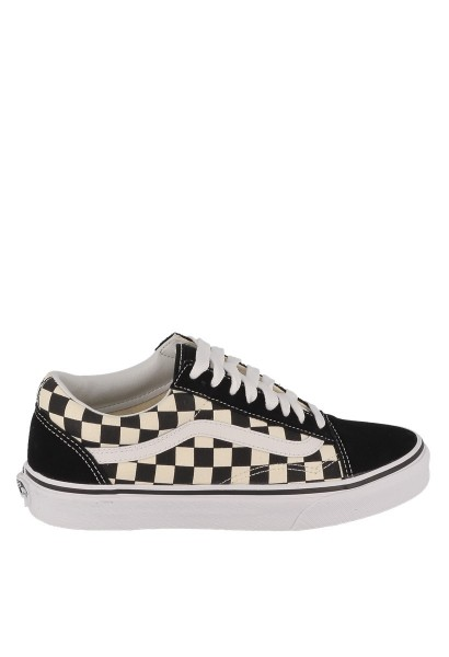 Basket classics primary check OLD SKOOL Blanc/noir