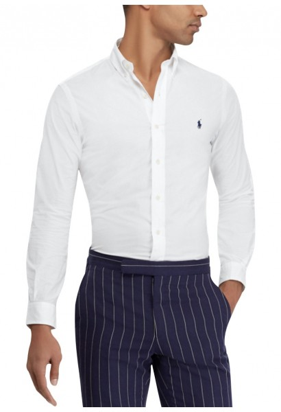 Chemise manches longues popeline Blanc