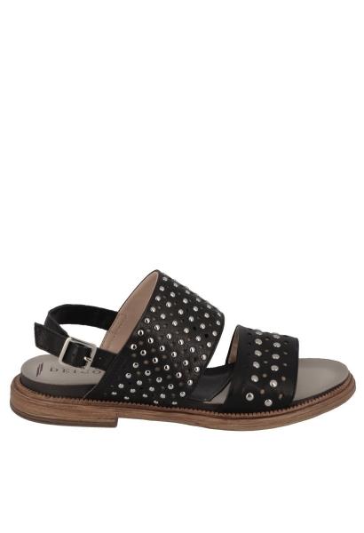 Sandales clous Noir