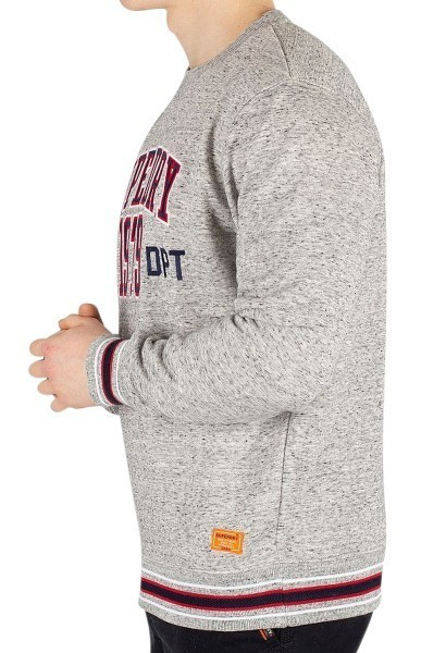 Sweat col rond COLLEGE BOXY CREW Gris chine
