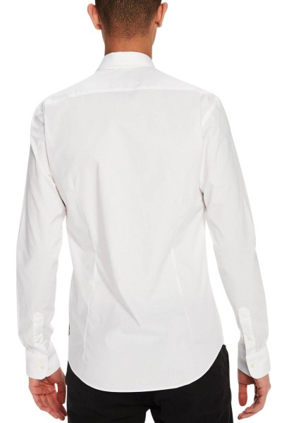 Chemise slim fit manches longues Chemise classic Blanc
