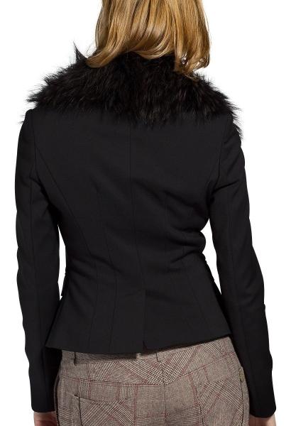 Veste blazer avec fourrure RACFUR Noir