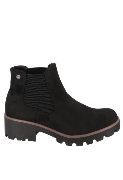 Boots semelle épaisse MICROSCAMO Noir