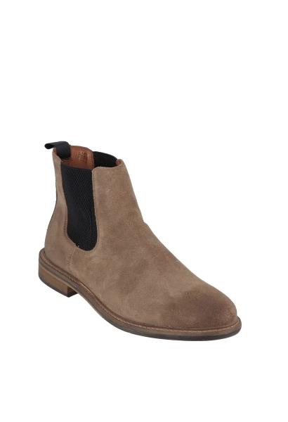 Boots élastique à la cheville PILOT CHELSEA SUEDE Taupe