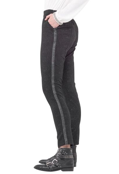 Pantalon élastique avec bande coté BIEBER Noir