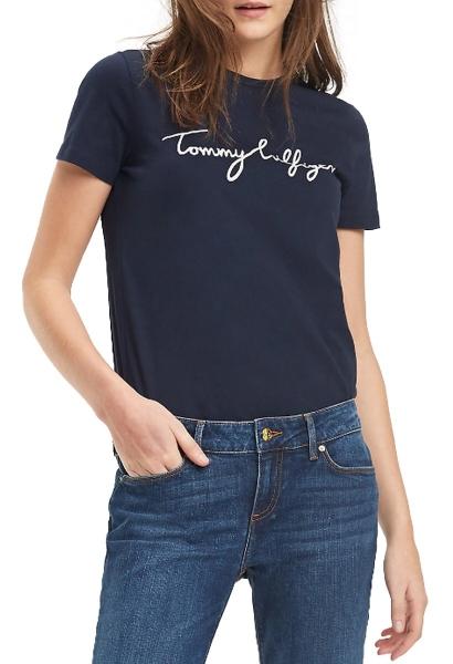 Tee shirt manches courtes avec inscription