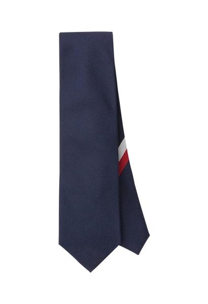 Cravate unie côtelée